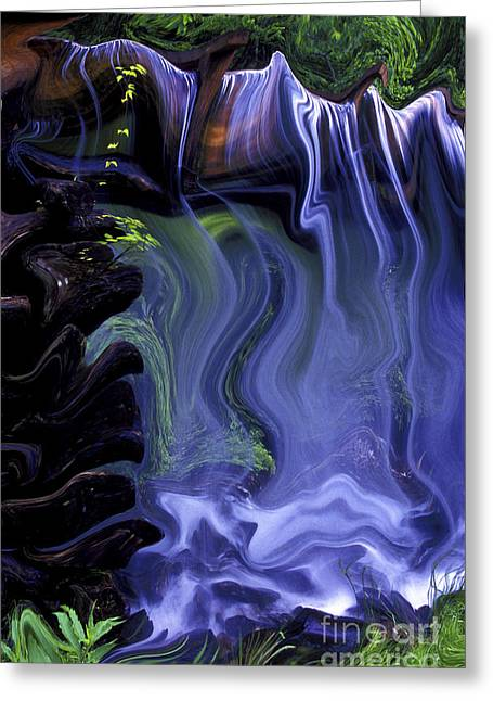 Blurr Greeting Cards - Spirit Falls Greeting Card by Paul W Faust -  Impressions of Light