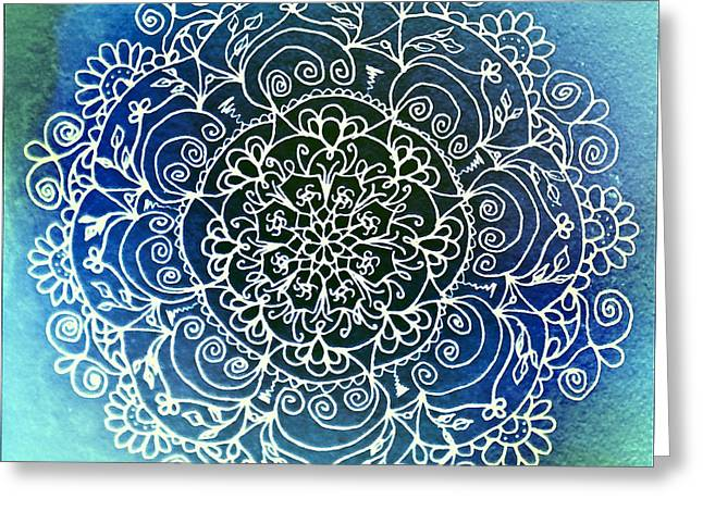 Sacred Drawings Greeting Cards - Spirit Garden Greeting Card by Heather Bach
