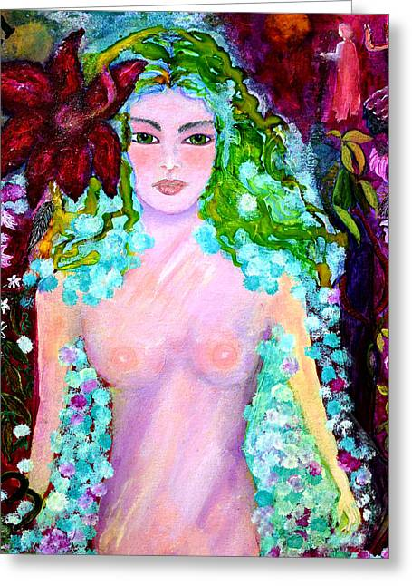 Vine Leaves Mixed Media Greeting Cards - Spirit Garden Greeting Card by Patricia Motley