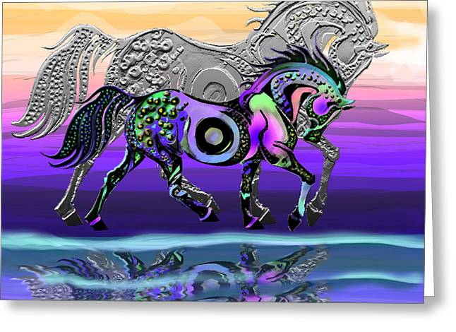 Book Cover Art Greeting Cards - Spirit Horse Greeting Card by Michele  Avanti