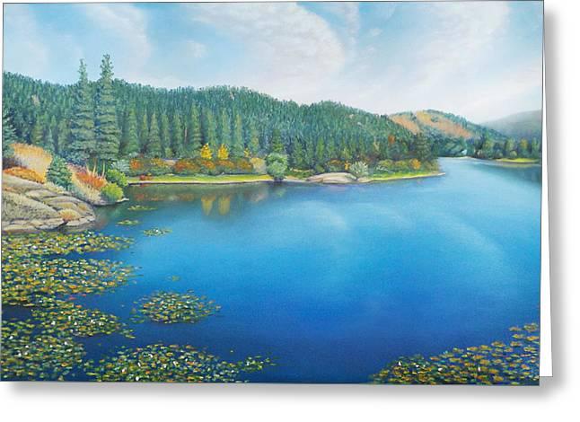 Mills Pastels Greeting Cards - Spirit Lake Mill Pond Greeting Card by Bruce MacBride