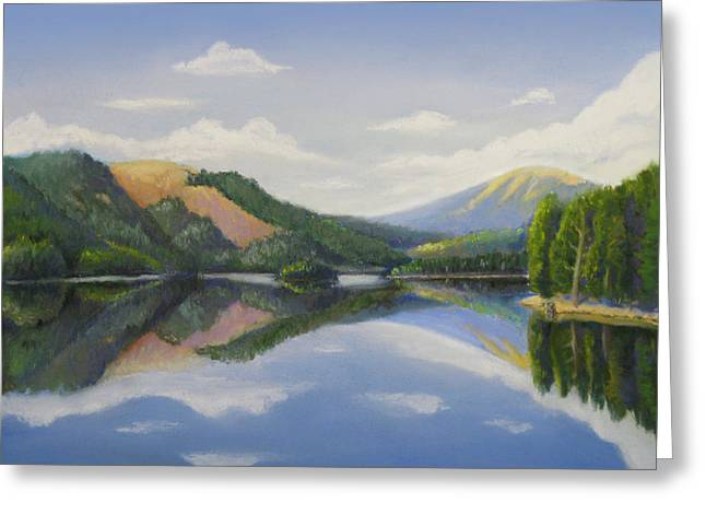 Spokane Pastels Greeting Cards - Spirit Lake-off the deck Greeting Card by Bruce MacBride