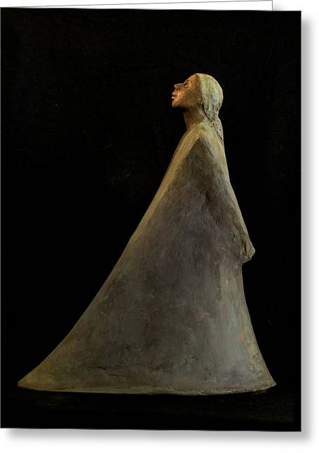 Spirit Sculptures Greeting Cards - Spirit Greeting Card by Mary Buckman