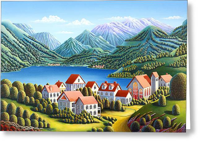 Swiss Greeting Cards - Spirit Mountains Greeting Card by Andy Russell