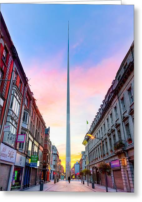 Erection Greeting Cards - Spirit of Dublin Greeting Card by Semmick Photo