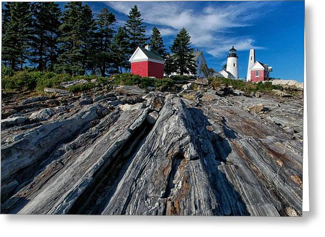 Maine Lighthouses Greeting Cards - Spirit of Maine Greeting Card by Garry Rice