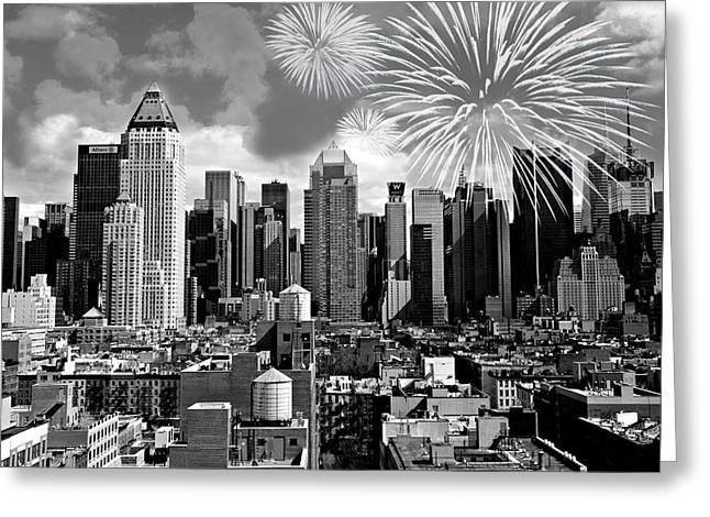 Spirit Of New York City Greeting Card by Diana Angstadt