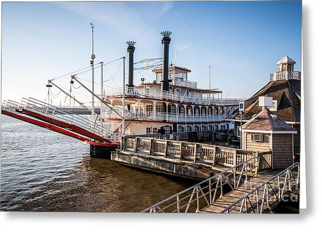 Riverboats Greeting Cards - Spirit of Peoria Riverboat in Peoria Illinois Greeting Card by Paul Velgos