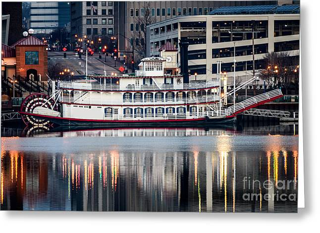 Riverboats Greeting Cards - Spirit of Peoria Riverboat Greeting Card by Paul Velgos