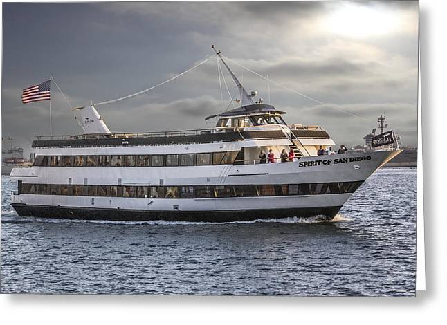 San Diego Harbor Cruise Greeting Cards - Spirit Of San Diego Greeting Card by Photographic Art by Russel Ray Photos