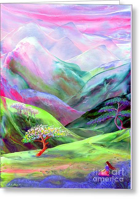 Magical Greeting Cards - Spirit of Spring Greeting Card by Jane Small