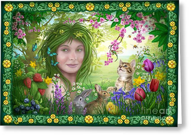 Woman Framed Prints Greeting Cards - Spirit of Spring Variant Greeting Card by Ciro Marchetti