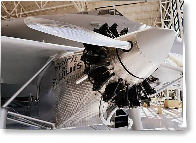 Plane Engine Greeting Cards - Spirit of St. Louis Greeting Card by Michelle Calkins
