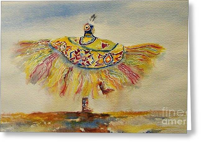 Wow Paintings Greeting Cards - Spirit of the Butterfly Greeting Card by Elizabeth  Webb