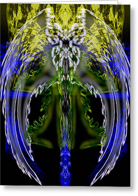 Courage Paintings Greeting Cards - Spirit of the Dragon Greeting Card by Christopher Gaston
