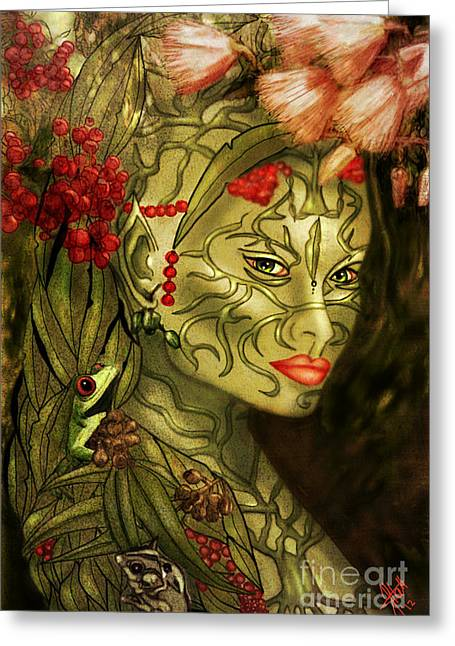Rosy Hall Greeting Cards - Spirit of the Forest Greeting Card by Rosy Hall