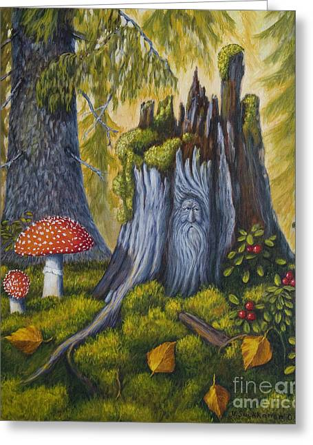 Moss Greeting Cards - Spirit of the forest Greeting Card by Veikko Suikkanen