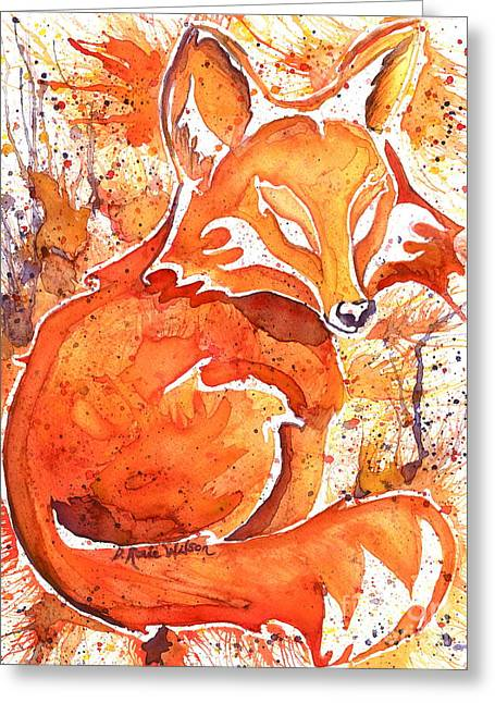 Metaphysical Fauna Greeting Cards - Spirit of the Fox Greeting Card by D Renee Wilson