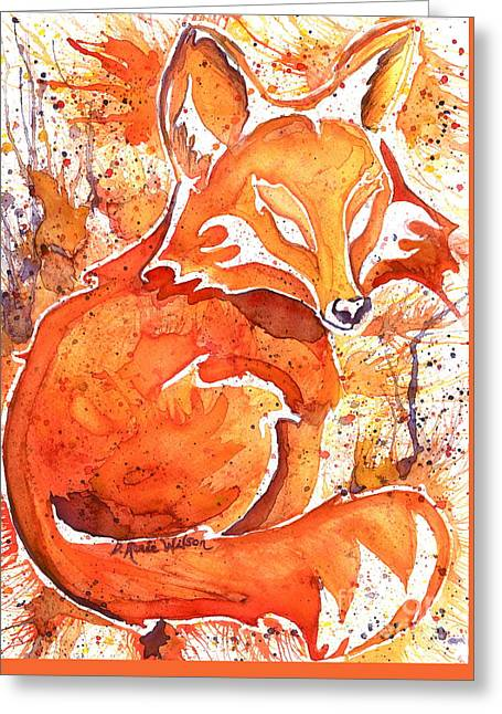 Fox Kit Paintings Greeting Cards - Spirit of the Fox Greeting Card by D Renee Wilson