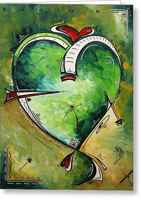 Spirit Of The Heart By Madart Greeting Card by Megan Duncanson