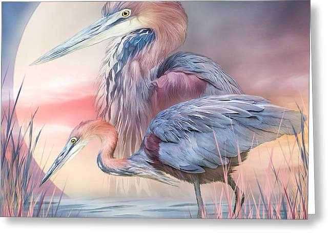 Great Birds Mixed Media Greeting Cards - Spirit Of The Heron Greeting Card by Carol Cavalaris