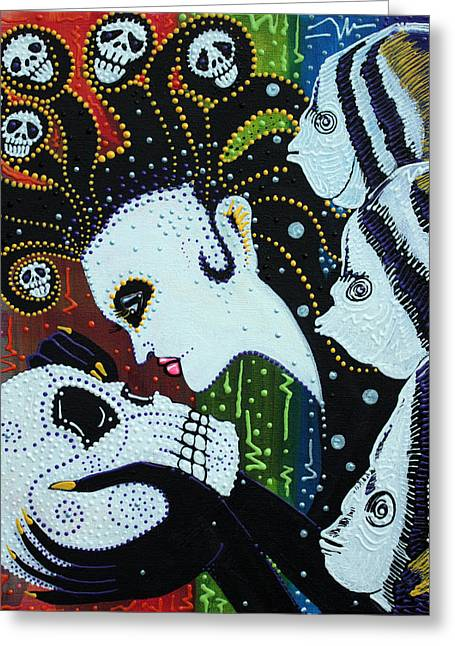 Medusa Paintings Greeting Cards - Spirit Of The Sea Greeting Card by Laura Barbosa