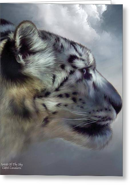 Big Cat Print Greeting Cards - Spirit Of The Sky Greeting Card by Carol Cavalaris