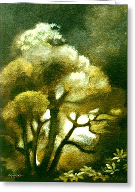 Aotearoa Greeting Cards - Spirit of the Tarairi Tree Greeting Card by Patricia Howitt