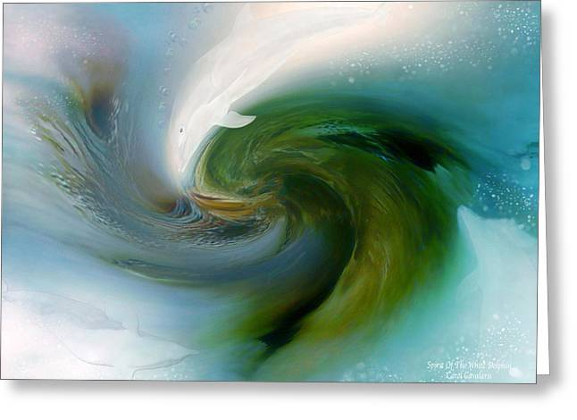 Spirit Of The White Dolphin Greeting Card by Carol Cavalaris
