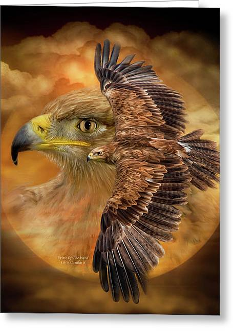 Wildlife Art Greeting Cards Greeting Cards - Spirit Of The Wind Greeting Card by Carol Cavalaris