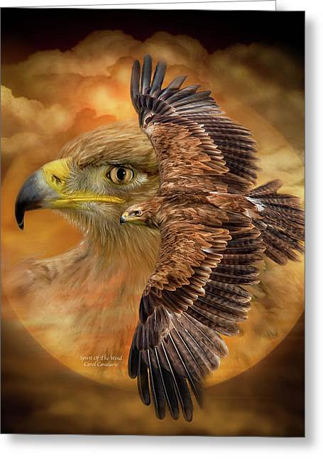 Wildlife Art Prints Greeting Cards - Spirit Of The Wind Greeting Card by Carol Cavalaris