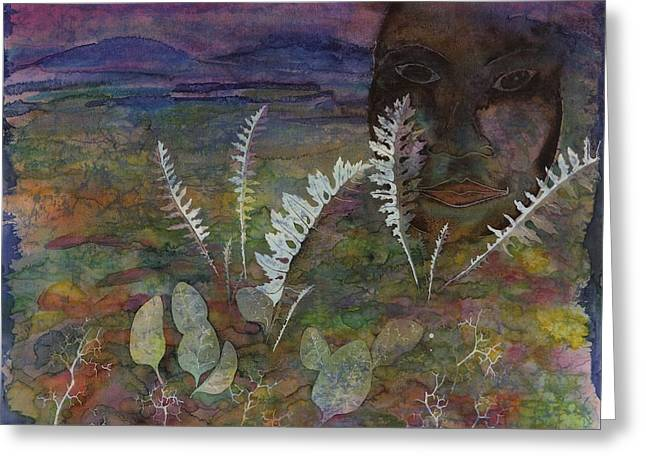 Purple Tapestries - Textiles Greeting Cards - Spirit on the Tundra Greeting Card by Carolyn Doe