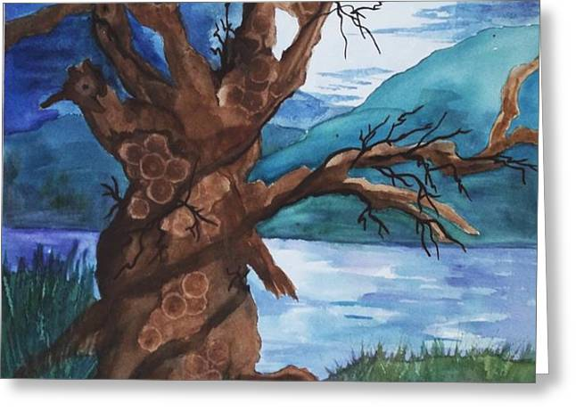 Spirit Tree Greeting Card by Ellen Levinson
