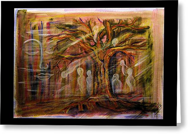 Tree Spirit Greeting Cards - Spirit Tree Greeting Card by Mimulux patricia no