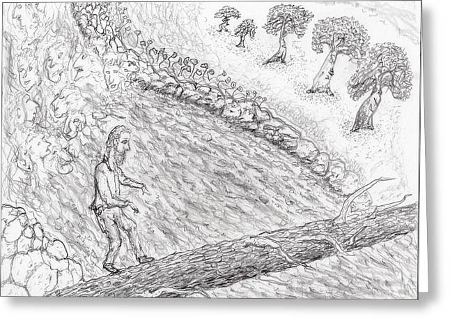 Hike Drawings Greeting Cards - Spirits In The Balance Greeting Card by Jim Taylor