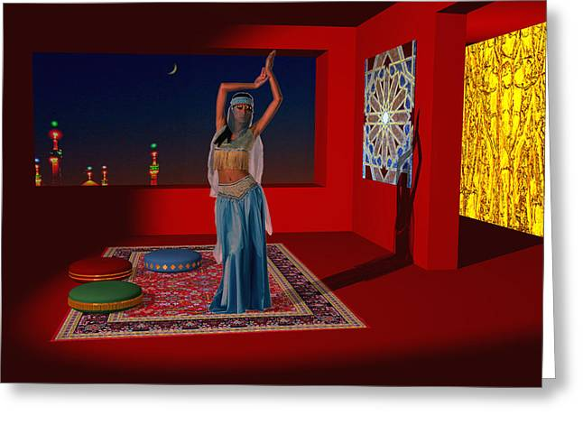 Cushion Greeting Cards - Spirits of Arabia Greeting Card by Andreas Thust