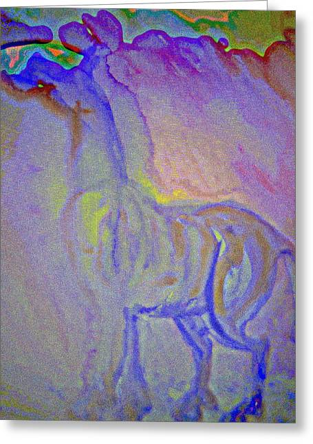 Temperament Paintings Greeting Cards - Spiritual Again Greeting Card by Hilde Widerberg