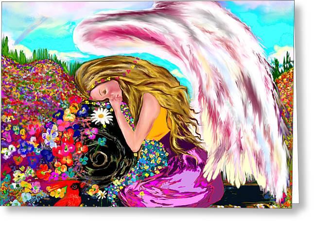 Spiritual Awakening  Greeting Card by Lori  Lovetere