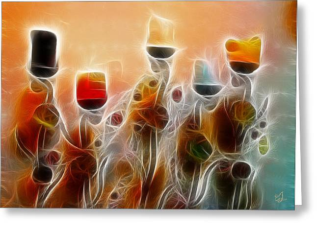 Fed Digital Art Greeting Cards - Spiritual Candles Greeting Card by Music of the Heart