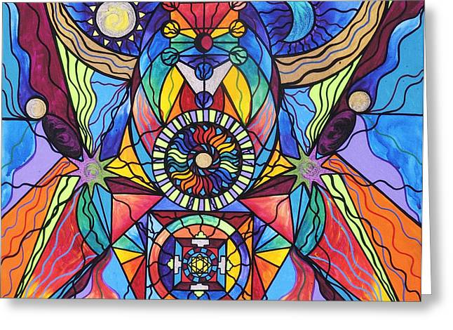 Allopathy Paintings Greeting Cards - Spiritual Guide Greeting Card by Teal Eye  Print Store