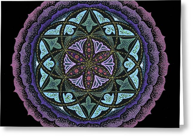 Chakra Rainbow Greeting Cards - Spiritual Heart Greeting Card by Keiko Katsuta