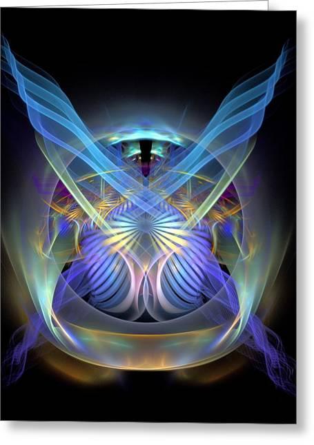 Divorce Greeting Cards - Spiritual-Panel-CenterBB Greeting Card by Bill Campitelle