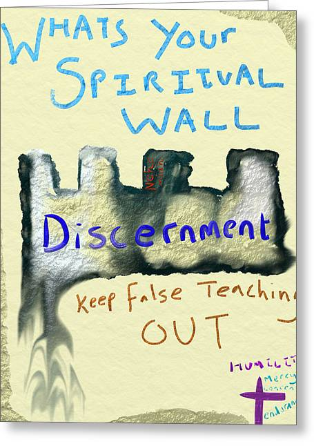 Spiritual Wall Greeting Card by Michael Jordan