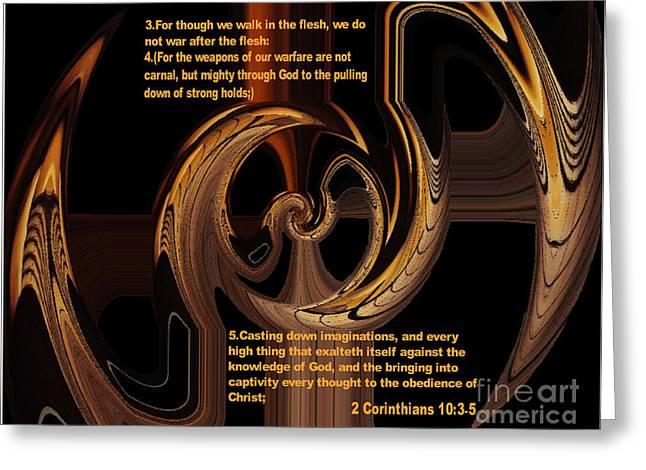 Spiritual Warfare Greeting Card by Wayne Cantrell