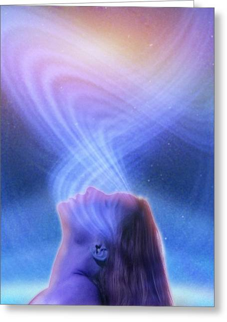 Mind-power Greeting Cards - Spirituality, conceptual image Greeting Card by Science Photo Library