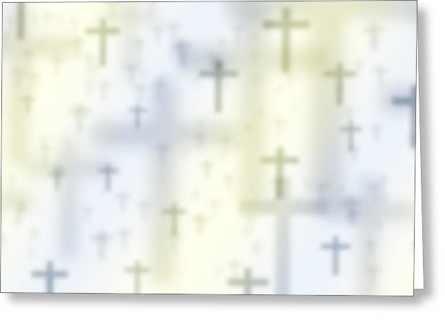 Owner Digital Art Greeting Cards - How Deep is the Cross Greeting Card by Kathy Plaunt
