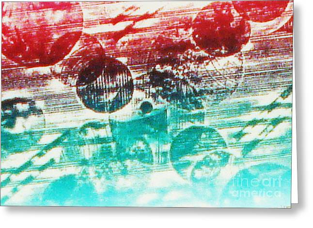 Printed Reliefs Greeting Cards - Spirtuality of The Planet Greeting Card by Yael VanGruber