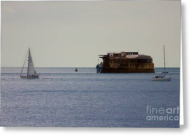 Spitbank Fort Martello Tower Greeting Card by Terri Waters