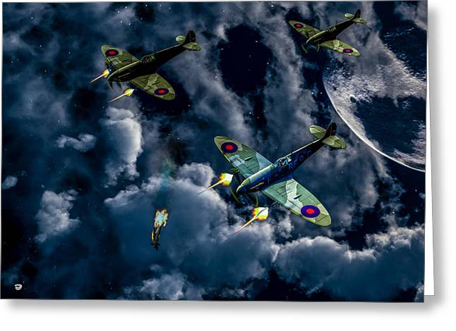 New Britain Digital Art Greeting Cards - Spitfire 2 Greeting Card by Todd and candice Dailey