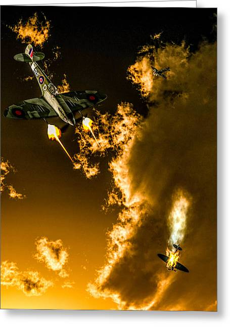 New Britain Digital Art Greeting Cards - Spitfire 3 Greeting Card by Todd and candice Dailey